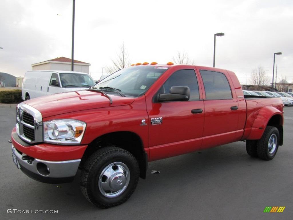 Flame Red 2007 Dodge Ram 3500 Slt Mega Cab 4x4 Dually Exterior Photo 61834470 Gtcarlot Com