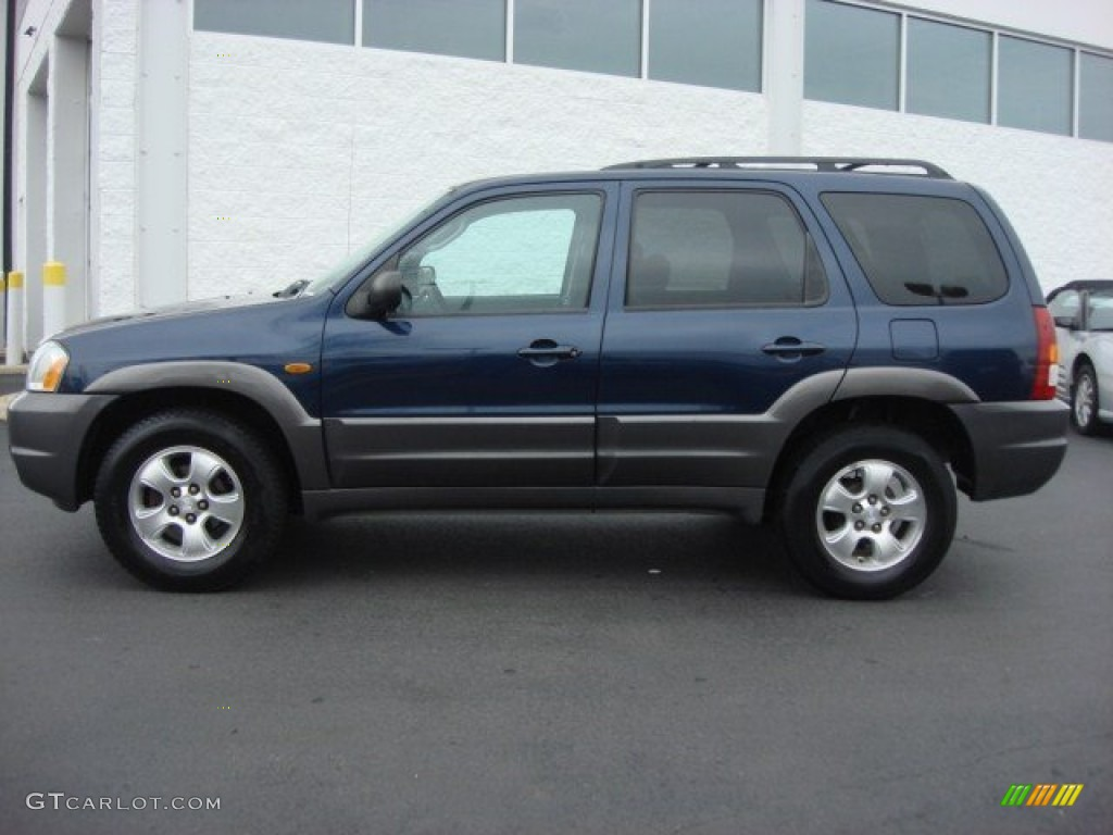 calypso blue metallic 2003 mazda tribute lx v6 exterior. Black Bedroom Furniture Sets. Home Design Ideas