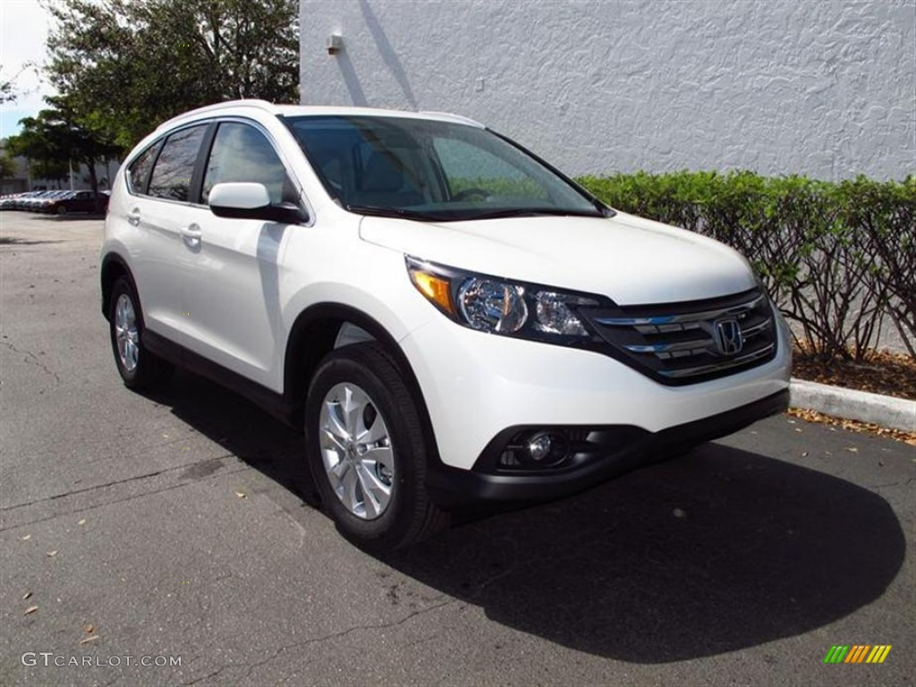 White Diamond Pearl 2012 Honda CR-V EX-L 4WD Exterior Photo #61846581
