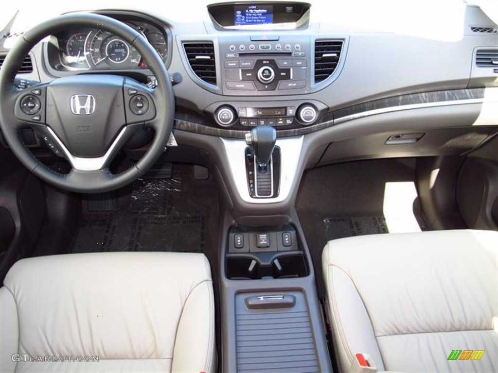 2012 Honda CR-V EX-L 4WD Beige Dashboard Photo #61846608