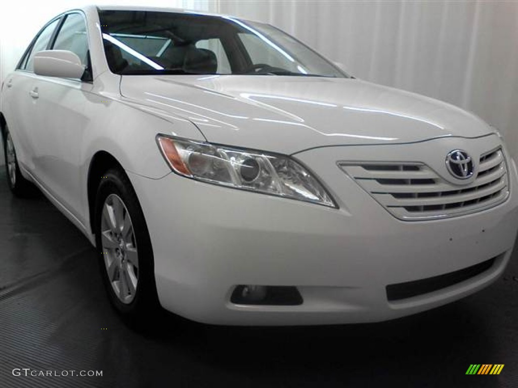 2009 super white toyota camry xle v6 61868541 car color galleries. Black Bedroom Furniture Sets. Home Design Ideas