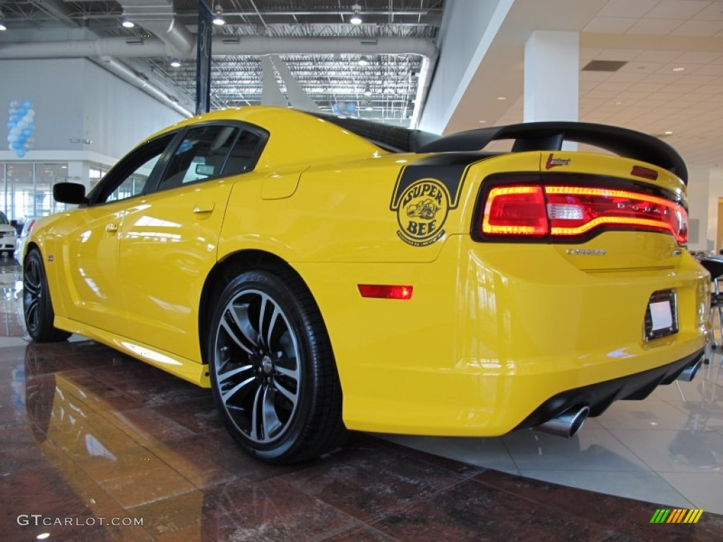 Stinger Yellow 2012 Dodge Charger SRT8 Super Bee Exterior Photo