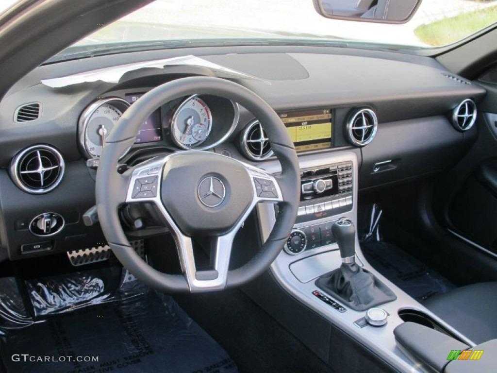 2012 Mercedes-Benz SLK 250 Roadster Black Dashboard Photo #61891608