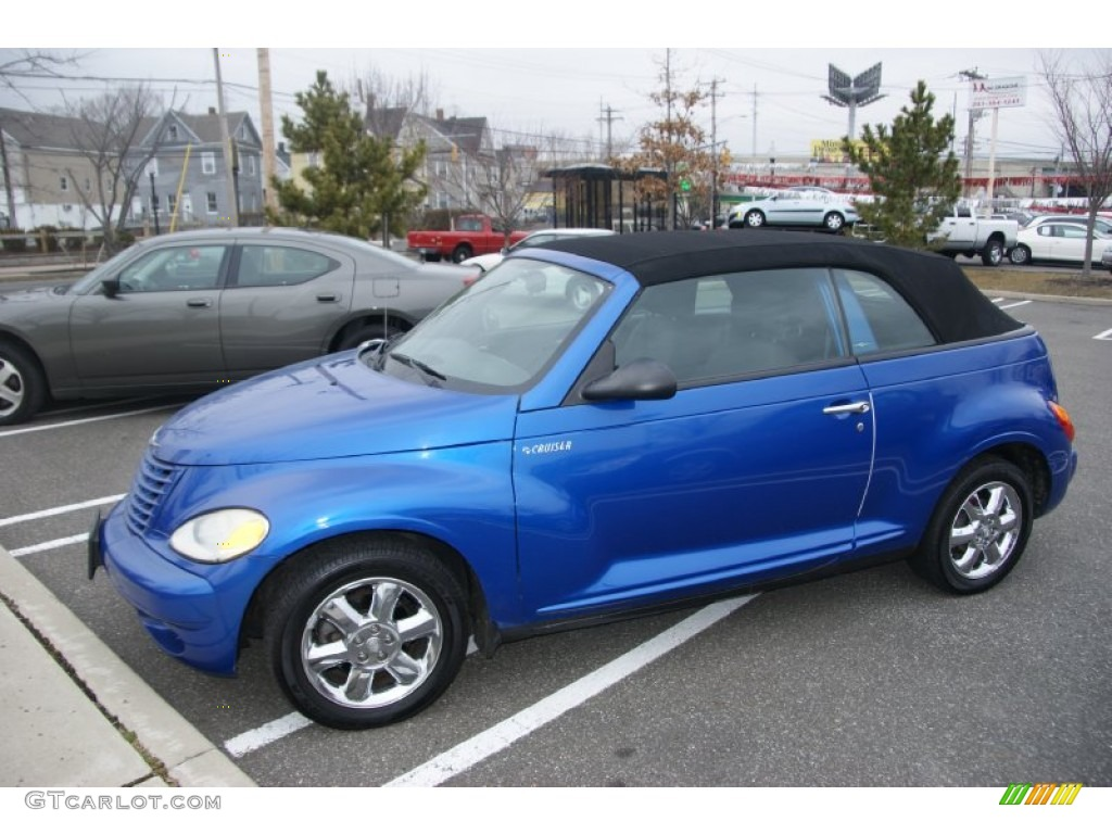 2005 electric blue pearl chrysler pt cruiser touring turbo convertible 61868439. Black Bedroom Furniture Sets. Home Design Ideas