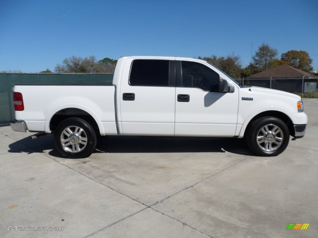 Oxford White 2005 Ford F150 Lariat Supercrew Exterior