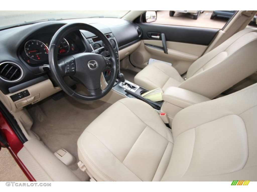 Beige Interior 2006 Mazda Mazda6 S Sport Sedan Photo 61913155 Gtcarlot Com