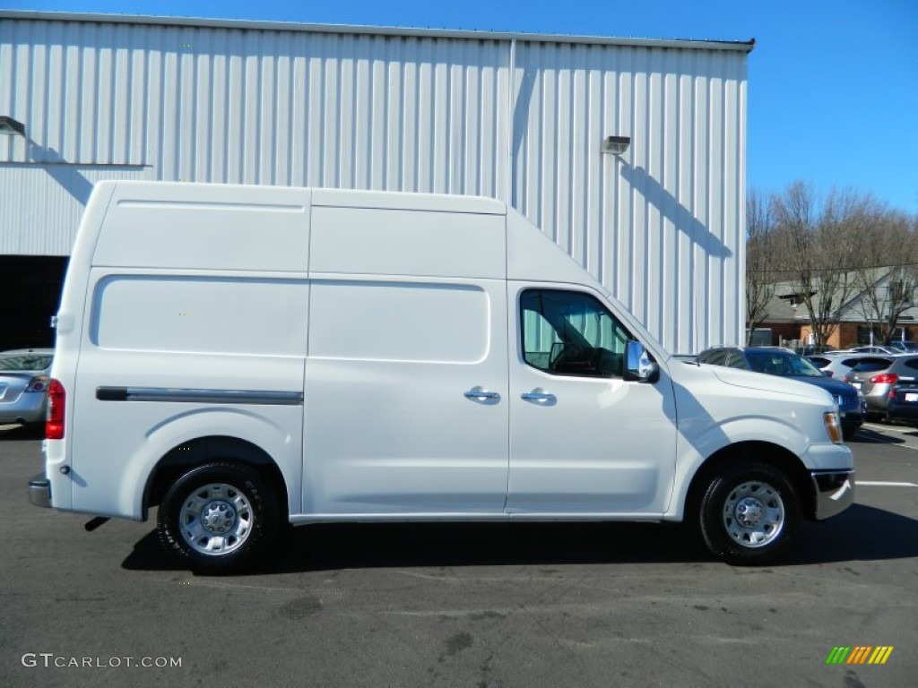 blizzard white 2012 nissan nv 2500 hd sv high roof exterior photo 61916665. Black Bedroom Furniture Sets. Home Design Ideas