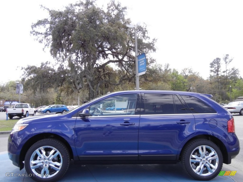 deep impact blue metallic 2013 ford edge limited exterior photo 61918702. Black Bedroom Furniture Sets. Home Design Ideas