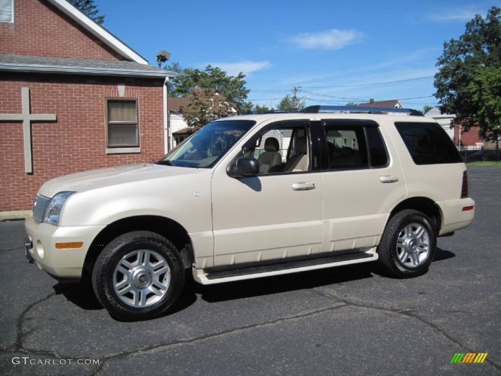 2005 Ivory Parchment Tri Coat Mercury Mountaineer V6 Awd