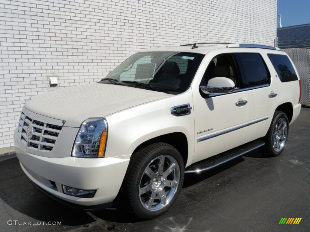 2012 white diamond tricoat cadillac escalade hybrid 4wd 61908005 car color. Black Bedroom Furniture Sets. Home Design Ideas