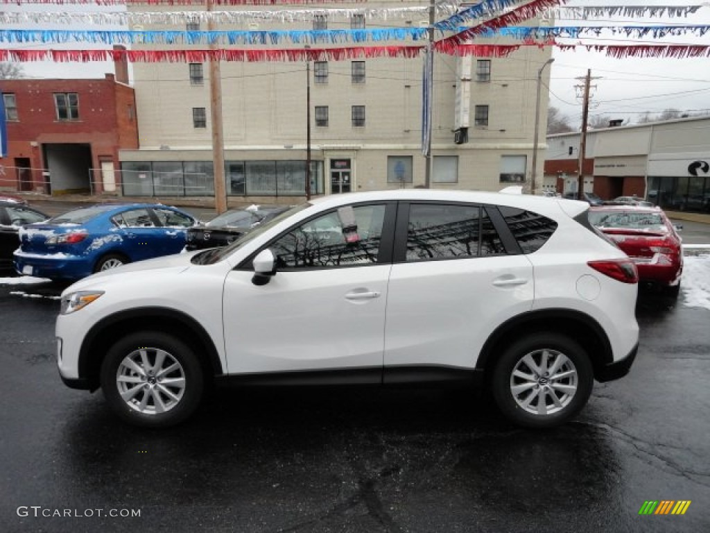 2013 CX-5 Touring - Crystal White Pearl Mica / Black photo #2