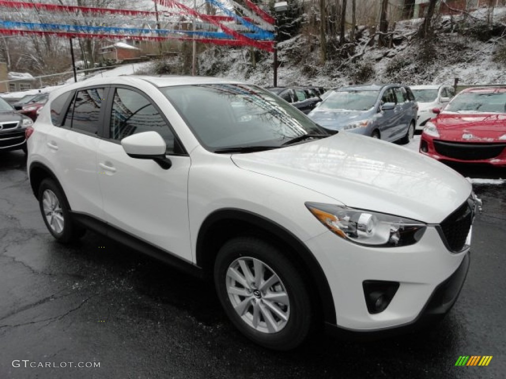 Crystal White Pearl Mica 2013 Mazda Cx 5 Touring Exterior