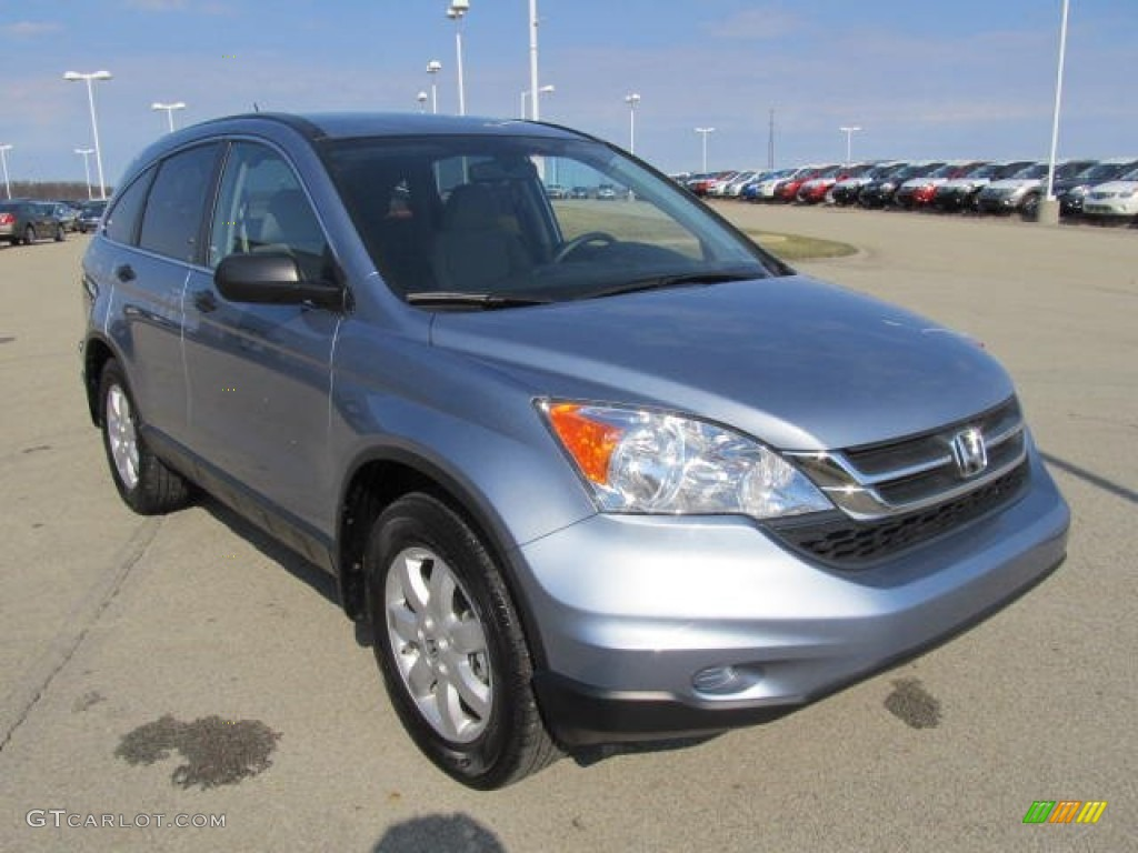 2011 CR-V SE 4WD - Glacier Blue Metallic / Gray photo #5