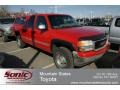 Fire Red 1999 GMC Sierra 2500 SLE Extended Cab 4x4