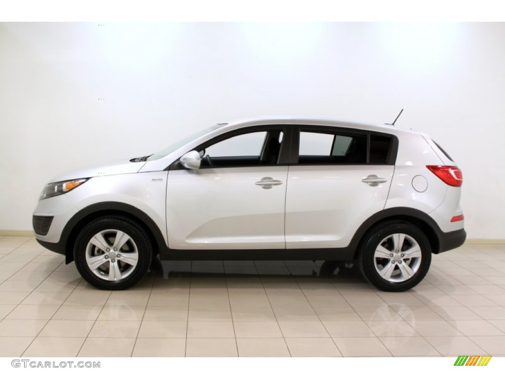bright silver 2012 kia sportage lx awd exterior photo 61963595. Black Bedroom Furniture Sets. Home Design Ideas