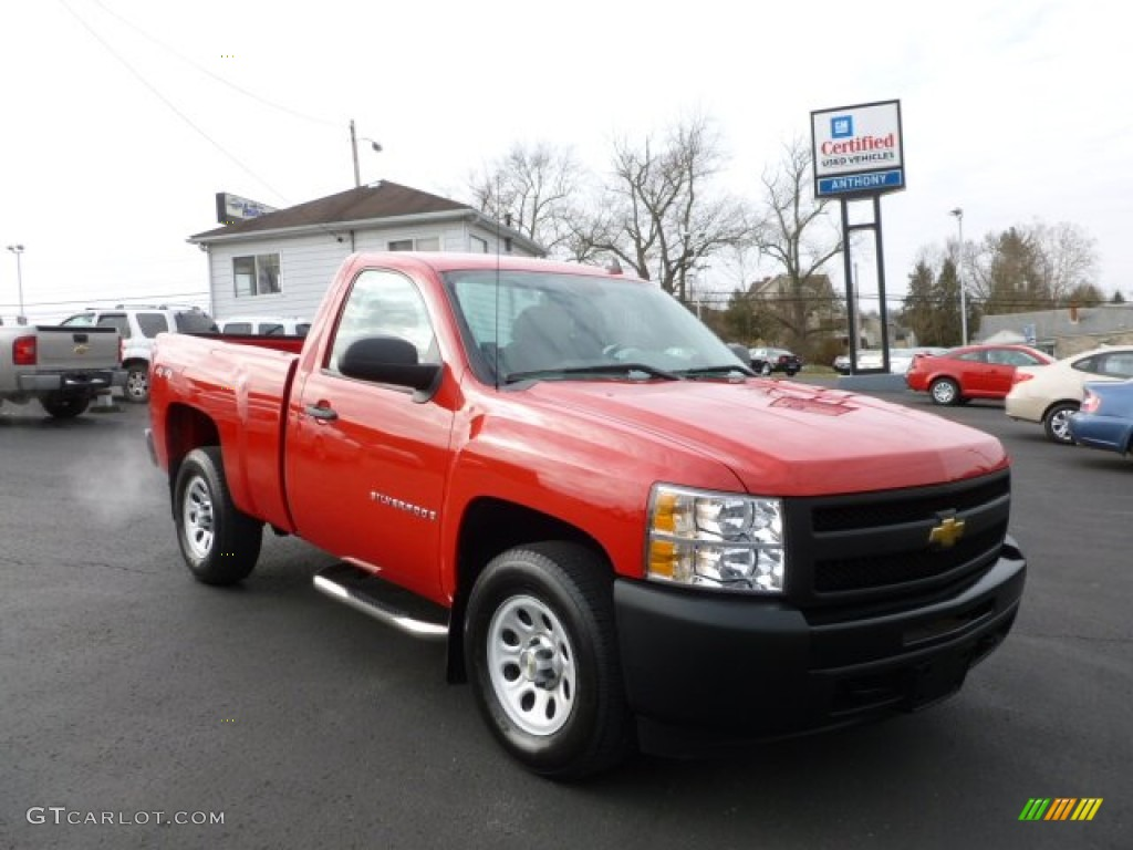 2009 Silverado 1500 Regular Cab 4x4 - Victory Red / Dark Titanium photo #1