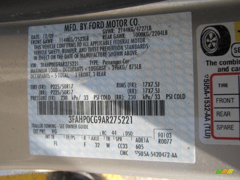 2010 Fusion SEL V6 AWD - Smokestone Metallic / Medium Light Stone photo #19