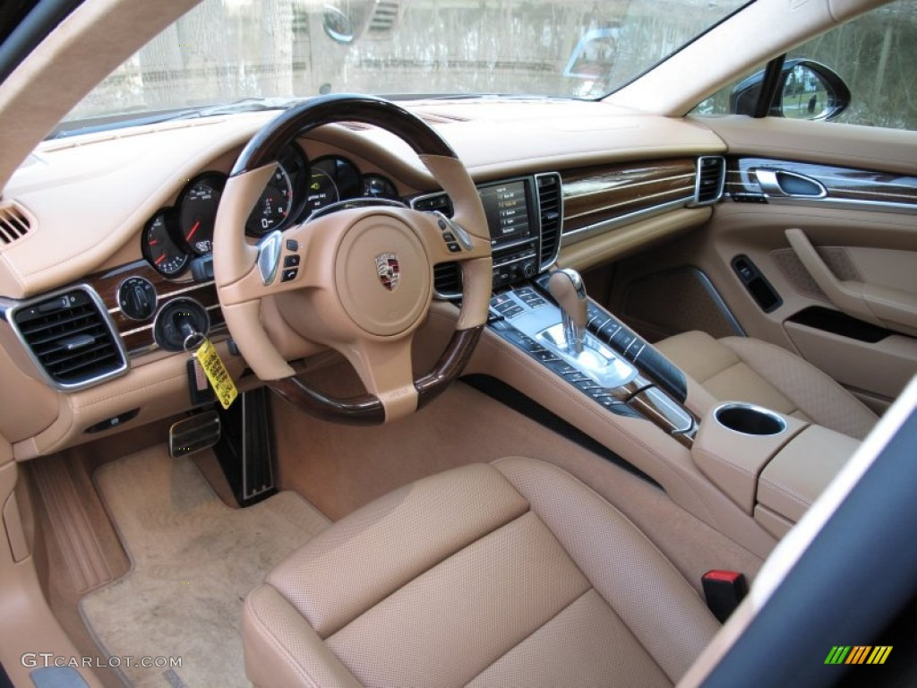 cognac natural leather interior 2011 porsche panamera turbo photo 61994292. Black Bedroom Furniture Sets. Home Design Ideas