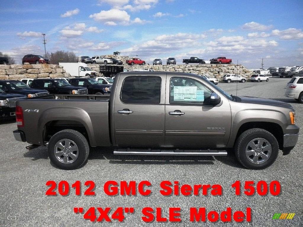 2012 Mocha Steel Metallic GMC Sierra 1500 SLE Crew Cab 4x4
