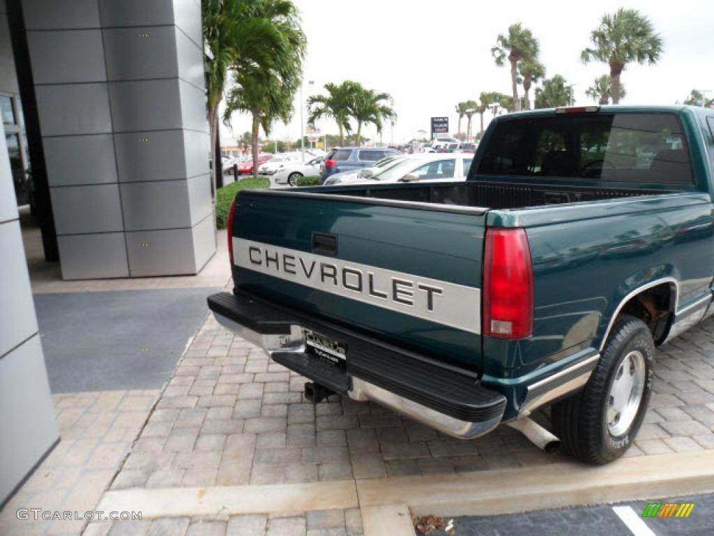 1997 c k c1500 silverado extended cab emerald green metallic neutral shale photo