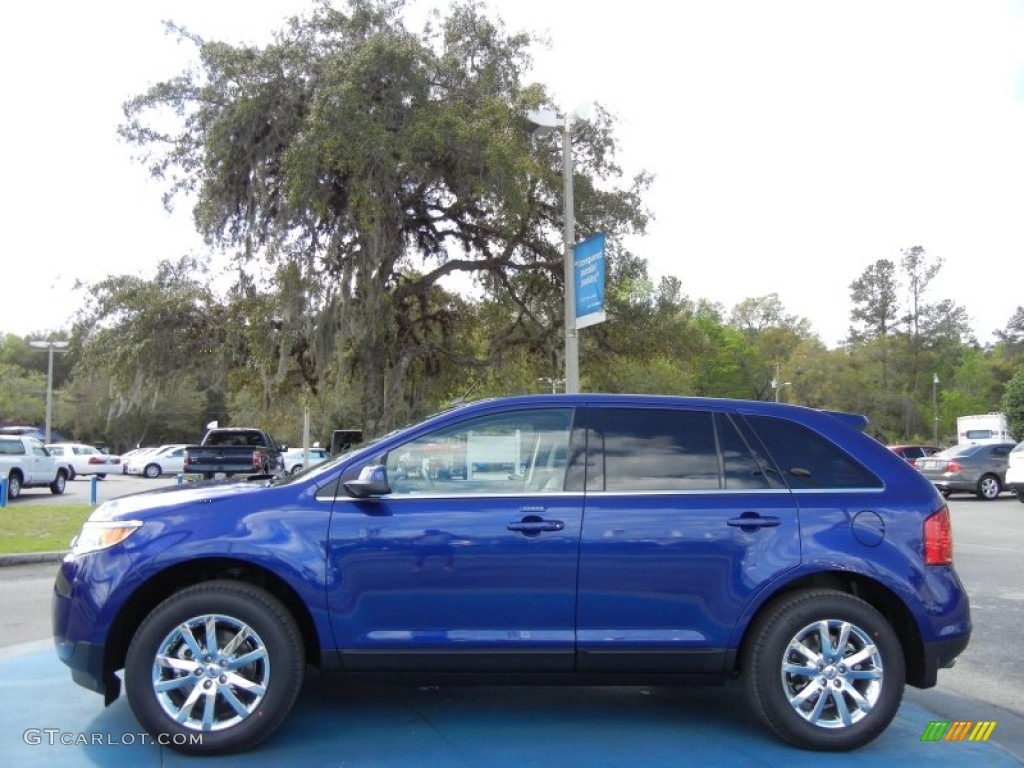 deep impact blue metallic 2013 ford edge limited exterior photo 62038649. Black Bedroom Furniture Sets. Home Design Ideas