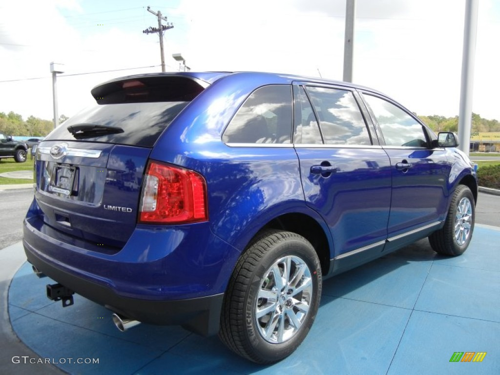 deep impact blue metallic 2013 ford edge limited exterior photo 62038655. Black Bedroom Furniture Sets. Home Design Ideas