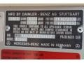 Info Tag of 1985 E Class 300 CD Coupe