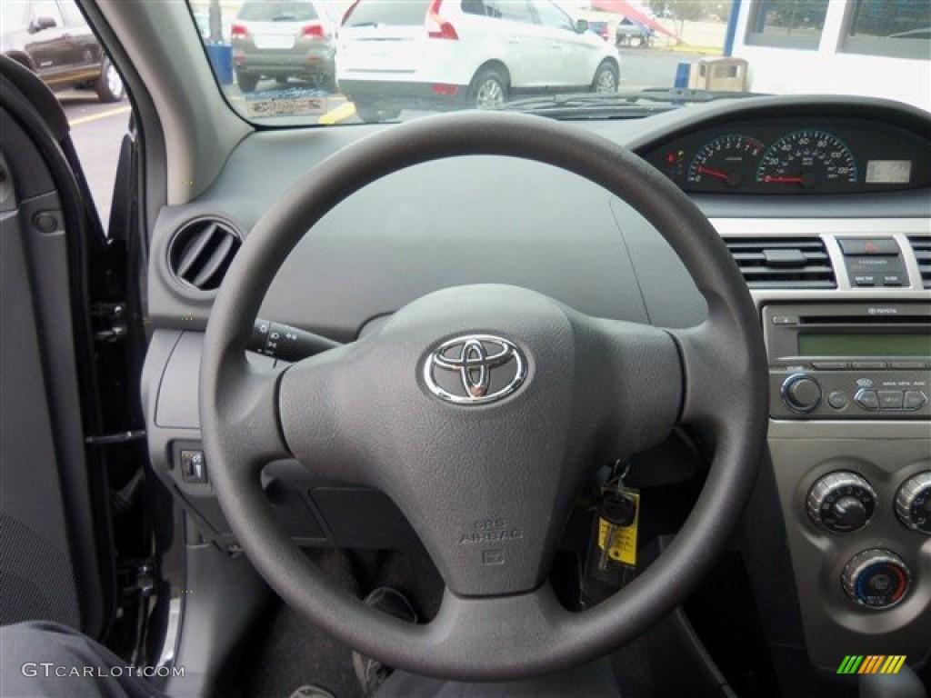 2012 Toyota Yaris Sedan Dark Gray Steering Wheel Photo #62048817