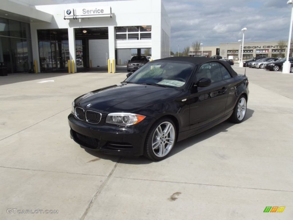 Jet Black BMW Series I Convertible Photo - 2012 bmw 135i convertible