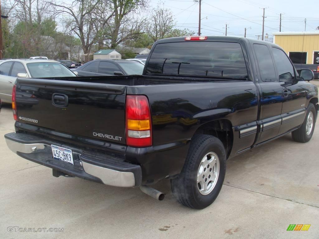 2000 Onyx Black Chevrolet Silverado 1500 Ls Extended Cab 6201475 Photo 3 Car