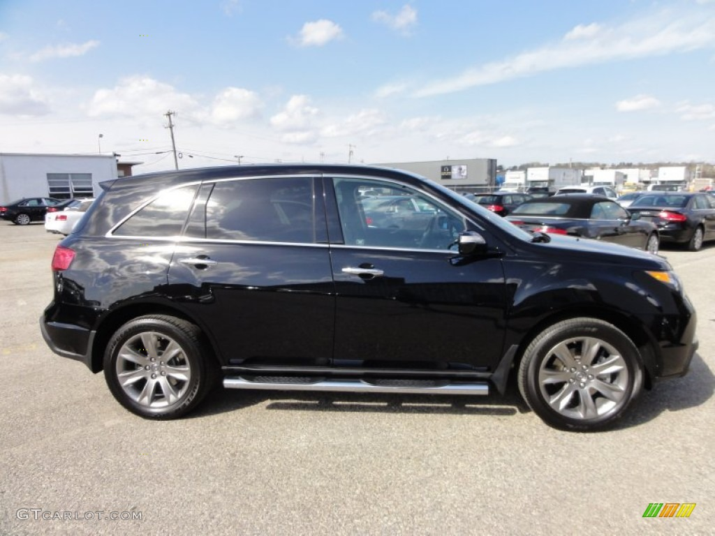 Crystal Black Pearl 2010 Acura Mdx Advance Exterior Photo 62070916