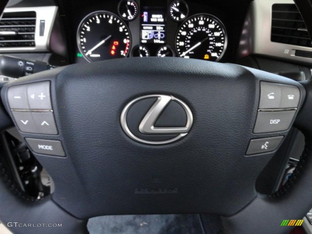 Lexus 2013 lexus lx : 2013 Lexus LX 570 Black/Mahogany Accents Steering Wheel Photo ...