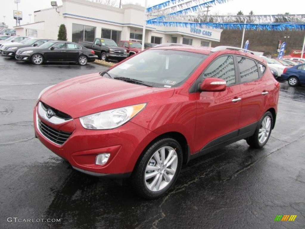 garnet red 2012 hyundai tucson limited awd exterior photo 62081798. Black Bedroom Furniture Sets. Home Design Ideas