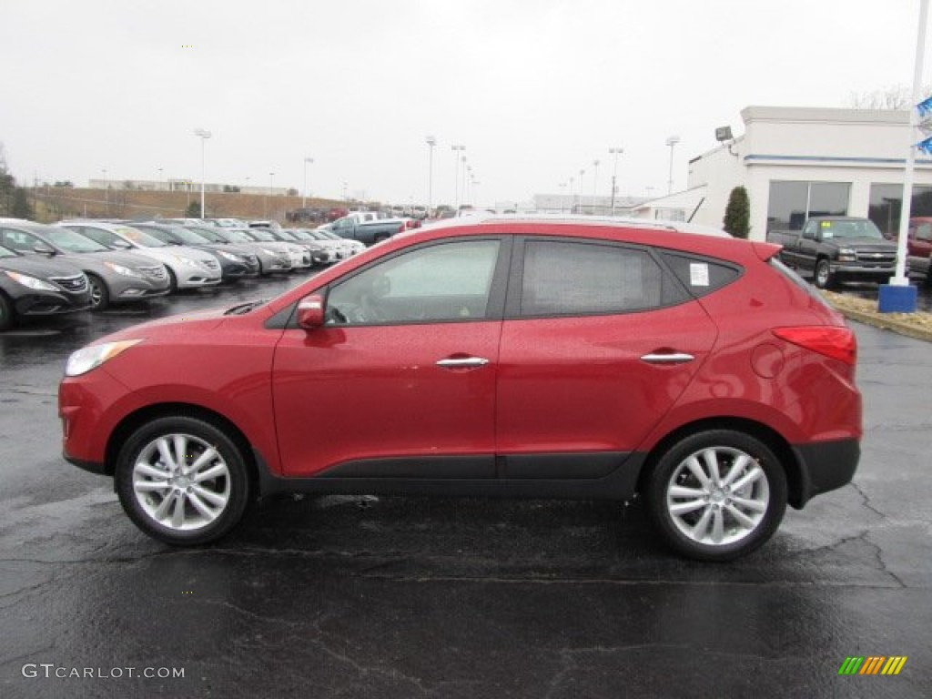 garnet red 2012 hyundai tucson limited awd exterior photo 62081807. Black Bedroom Furniture Sets. Home Design Ideas