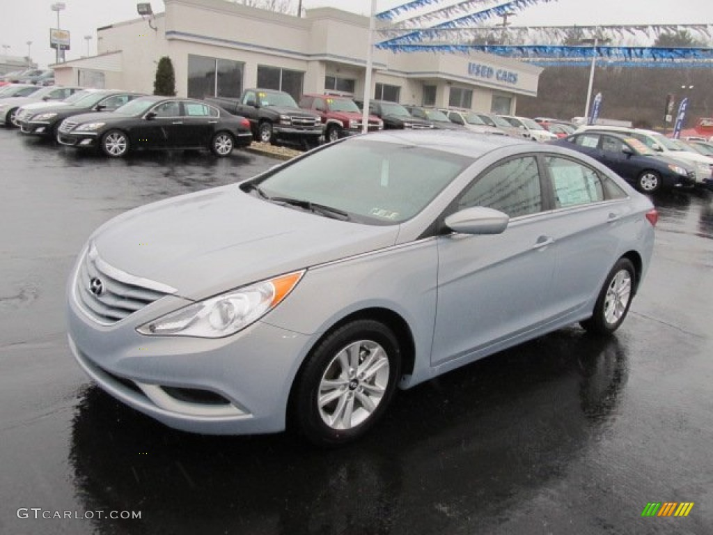 iridescent silver blue pearl 2012 hyundai sonata gls exterior photo. Black Bedroom Furniture Sets. Home Design Ideas