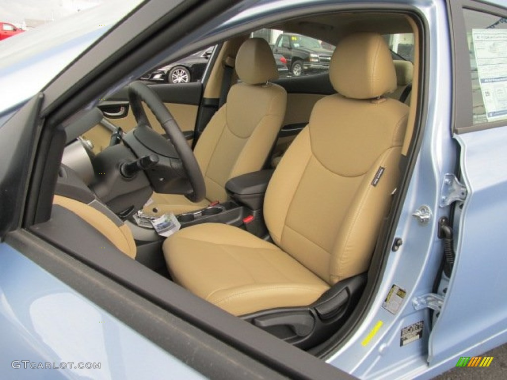 Beige Interior 2012 Hyundai Elantra Limited Photo 62082681