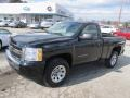 2011 Black Chevrolet Silverado 1500 LS Regular Cab 4x4  photo #1