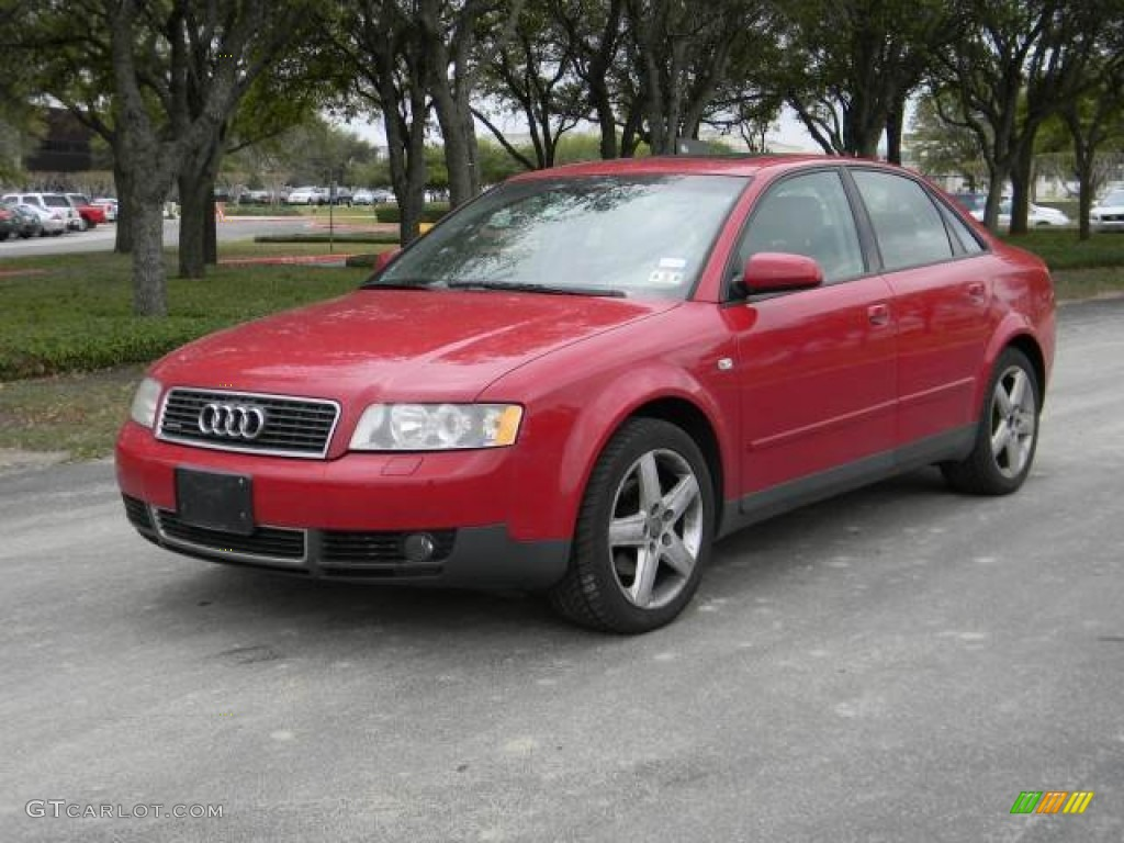 2003 amulet red audi a4 1 8t quattro sedan 62098474. Black Bedroom Furniture Sets. Home Design Ideas