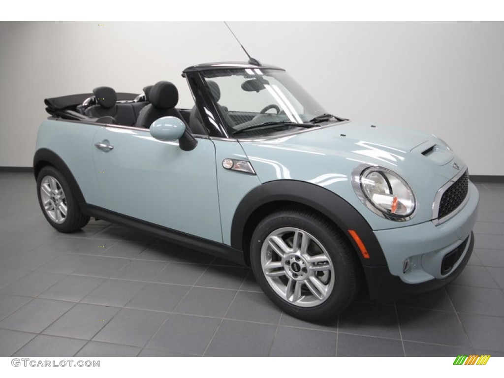 Ice Blue Mini Cooper S Convertible