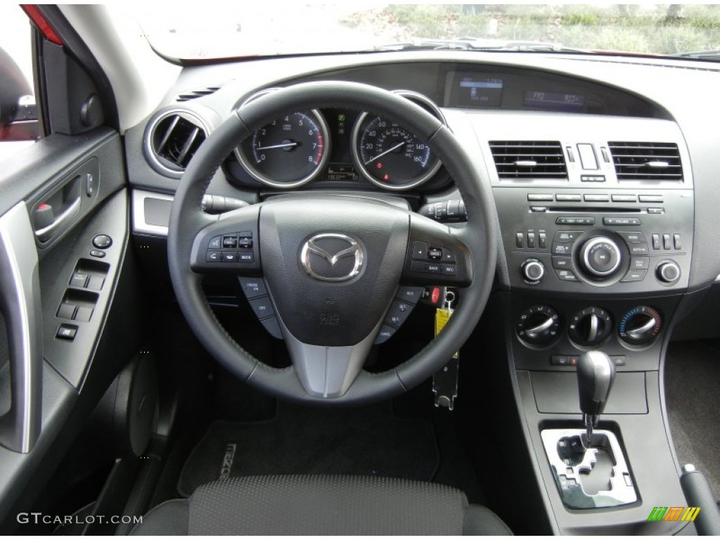 2012 mazda mazda3 s touring 5 door black dashboard photo. Black Bedroom Furniture Sets. Home Design Ideas