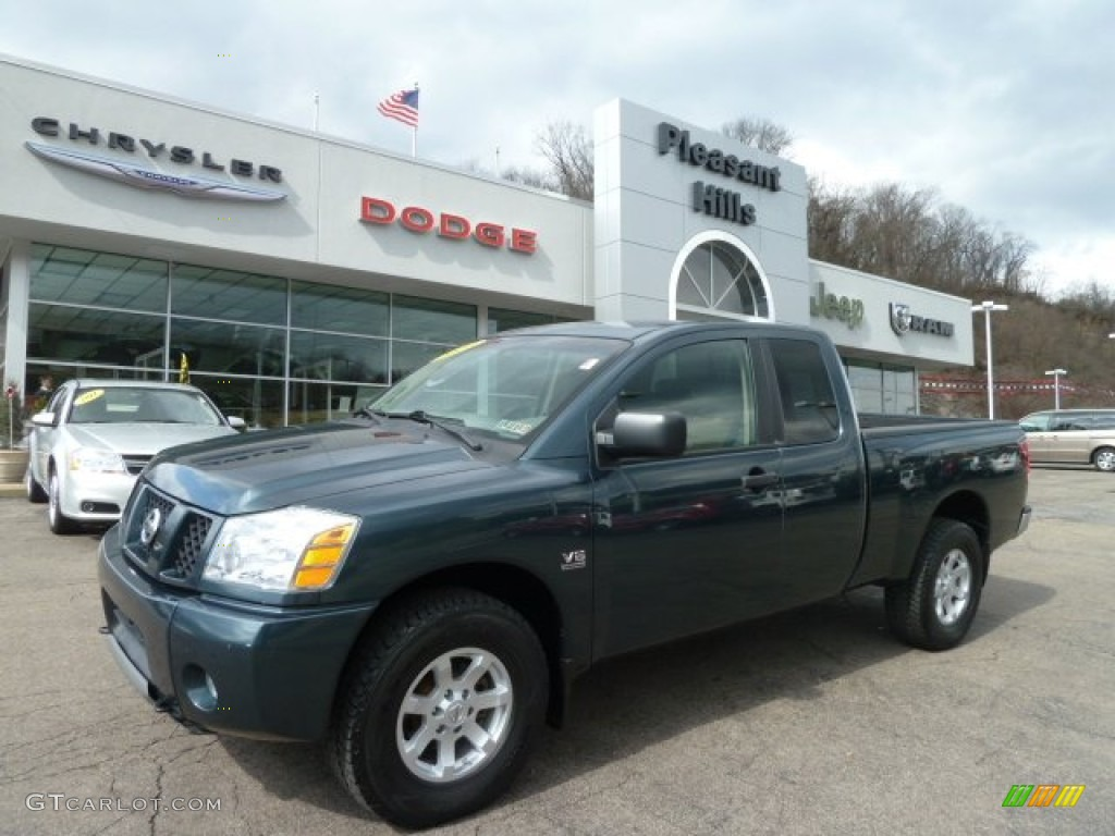 2004 deep water bluegreen nissan titan xe king cab 4x4 62098103 deep water bluegreen nissan titan vanachro Choice Image