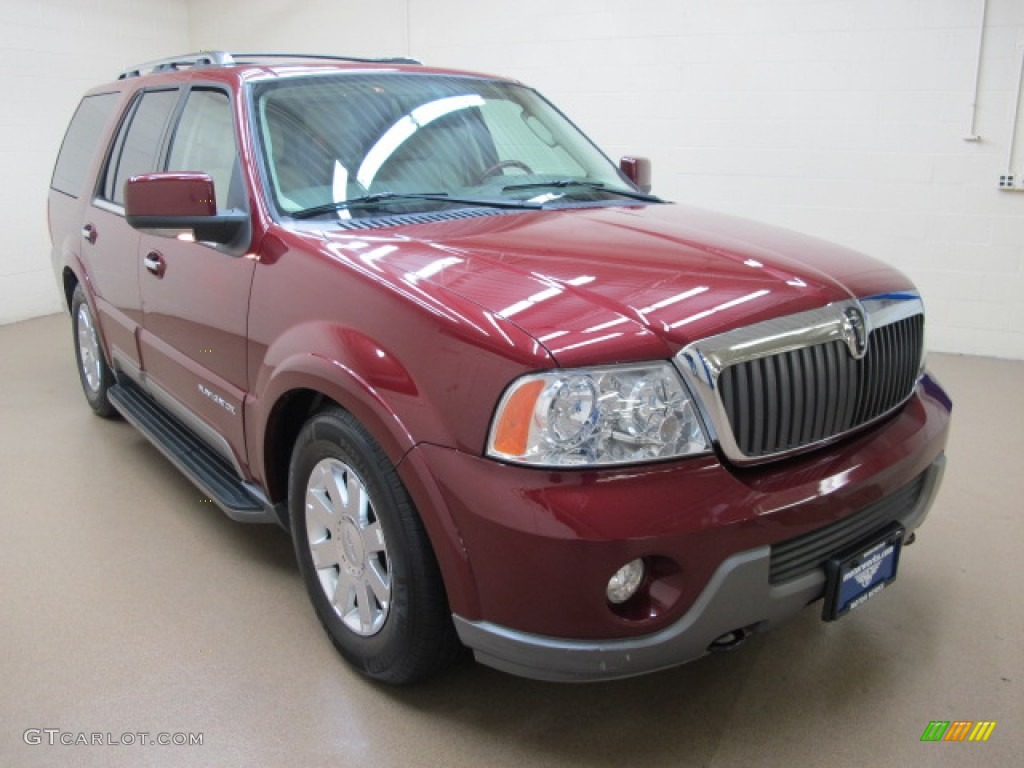 2004 merlot red metallic lincoln navigator luxury 4x4 62097624 photo 9 car. Black Bedroom Furniture Sets. Home Design Ideas