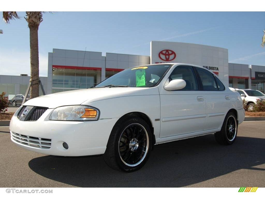 2005 cloud white nissan sentra 1 8 s special edition. Black Bedroom Furniture Sets. Home Design Ideas