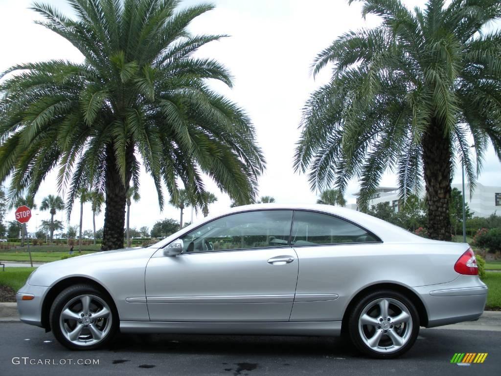 2005 Brilliant Silver Metallic Mercedes Benz Clk 320 Coupe