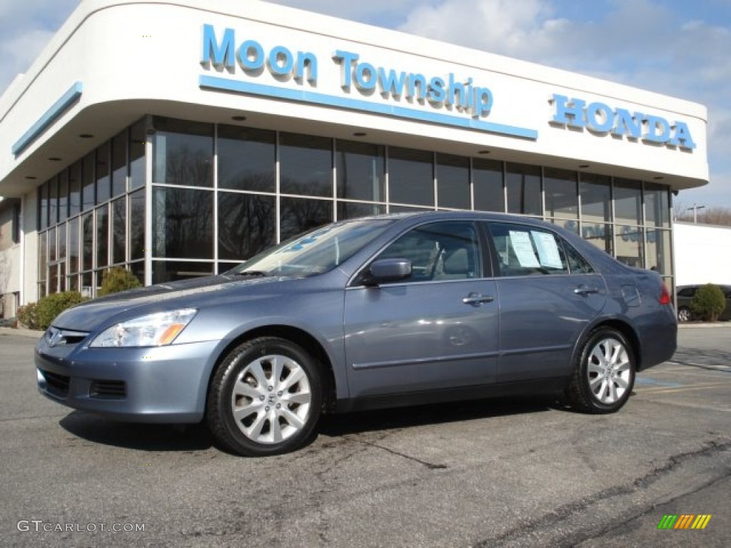 2007 cool blue metallic honda accord lx v6 sedan 62097917 for 2007 honda accord lx sedan