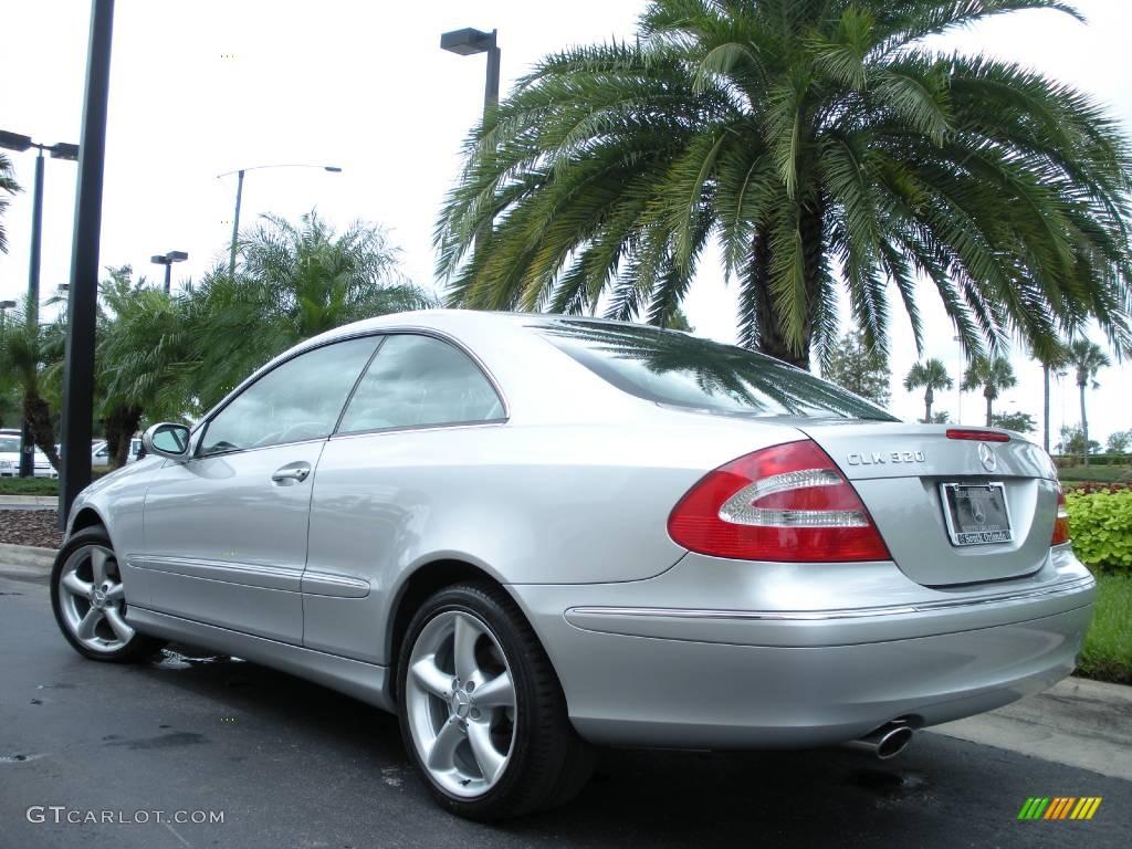 2005 brilliant silver metallic mercedes benz clk 320 coupe for 2005 mercedes benz clk 320