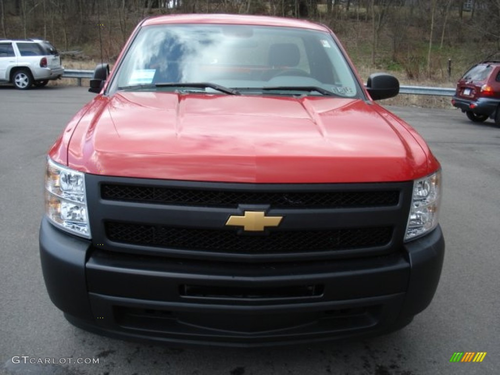 2012 Silverado 1500 Work Truck Regular Cab - Victory Red / Dark Titanium photo #3