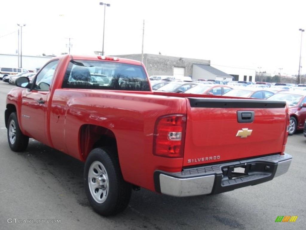 2012 Silverado 1500 Work Truck Regular Cab - Victory Red / Dark Titanium photo #6