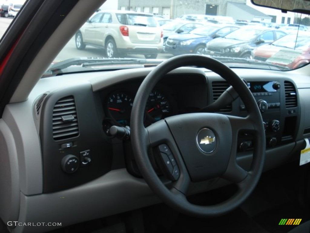 2012 Silverado 1500 Work Truck Regular Cab - Victory Red / Dark Titanium photo #10