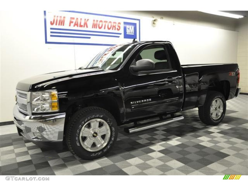 2012 Silverado 1500 LT Regular Cab 4x4 - Black / Ebony photo #1